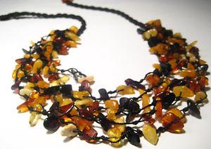 【送料無料】ネックレス バルト5 cordes vrai collier ambre baltique