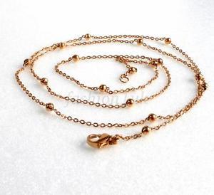 【送料無料】ネックレス ファッションkゴールドメッキボールネックレスブレスレットクラスプfashion1uk femmes 18k plaqu or perle boule collier bracelet 60cm fermoir