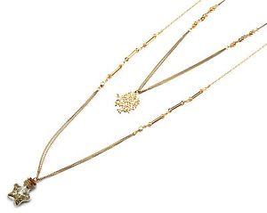 【送料無料】ネックレス クランプシャフトエトワールcl1139e * sautoir collier multirangs perles arbre vie et etoile paillettes dor