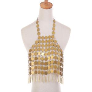 【送料無料】ネックレス スパンコールタッセルベストチェーンボディビキニウエストハーネスwomen sequins tassel vest chain body chest bikini waist harness bijoux de