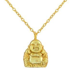 【送料無料】ネックレス スターリングシルバーネックレスen argent sterling 925 heureux souriant bouddha collier