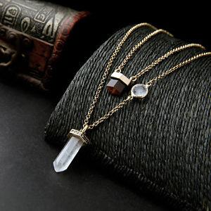 【送料無料】ネックレス クランプパッドアメジストクラスcollier deux pendantif dor pav quartz transparent amthyste 3 en 1 class ddz 1