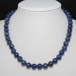 【送料無料】ネックレス ラピスラズリネックレスbeau collier 48cm en naturelle lapis lazuli 10mm et argent 925