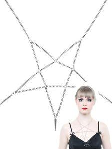 【送料無料】ネックレス ネックレスシルバーqueen of darkness collier pentagramme couleur argent