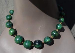 【送料無料】ネックレス ビンテージベークライトネッククランプvintage collier ras de cou en baklite de couleur vert verte green