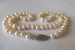 【送料無料】ネックレス クリップcollier de perles de culture