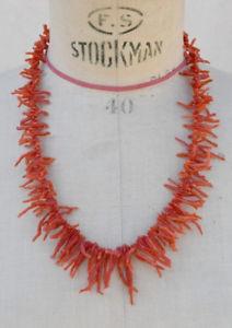 【送料無料】ネックレス ビンテージサンゴサンゴストランドクランプancien collier de corail vintage 50 cm brins de corail