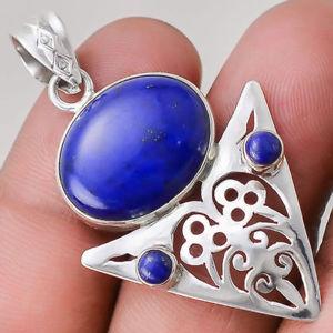 【送料無料】ネックレス ラピスラズリマウントpendentif lapis lazuli monture argent 925 ref 6207