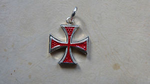 【送料無料】ネックレス アルジェントスターリングシルバークローチェディマルタcroce di malta in argento smaltato 925 sterling silver