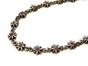 【送料無料】ネックレス ネックレスフラワーピンクパリbijou alliage argent collier fleur strass rose sign mtal pointus paris