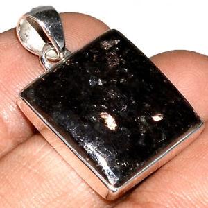 【送料無料】ネックレス マウントpendentif nuummite vritable monture argent 925 rare ref 0174