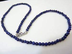 【送料無料】ネックレス ネックレスラピスラズリビーズcollier lapis lazuli perles 4 mm 50 cm de long
