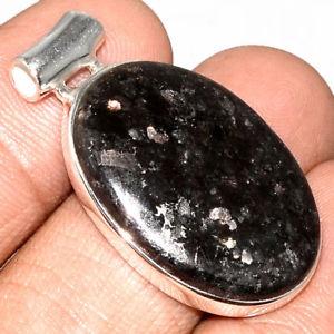 【送料無料】ネックレス マウントpendentif nuummite vritable monture argent 925 rare ref 8944