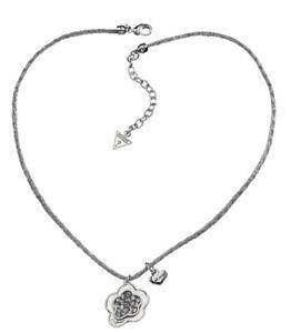 【送料無料】ネックレス クリップクランプペンダントシルバーguess collier collier avec pendentif ubn31107 argent