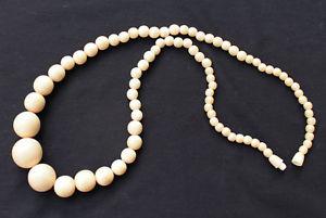【送料無料】ネックレス ホーンジュエルアールデコビンテージクリップcollier vintage en perles corne rhodoid bijou ancien art deco