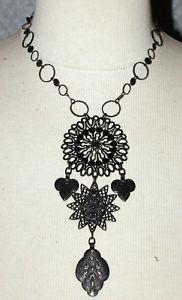 【送料無料】ネックレス collier ras de cou pendentif les gens du sud mtal cuivre noirci