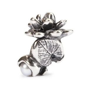 【送料無料】ネックレス ディauthentic trollbead water lilies of july tagbe00033 ninfea di luglio