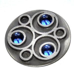 【送料無料】ネックレス ペンダントビンテージイヤーbent larsen pendentif moderniste vintage anne 70 argent bleu bijou pendant