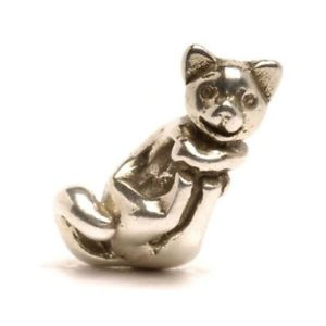 【送料無料】ネックレス シルバービッグキャットガットauthentic trollbead silver big cat tagbe30086 gatto grande