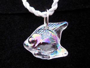 【送料無料】ネックレス クリスタルラリックフランスボックスペンダントモデルpendentif avec sa boite en cristal lalique france modle poisson