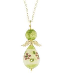 【送料無料】ネックレス アルジェントパールディアンジェロバードcollana argento le perle di caltagirone angelo angeli verde ceramica ang c 2