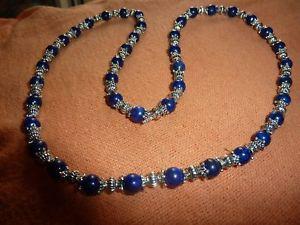 【送料無料】ネックレス ネックレスラピスラズリビーズチベットcollier lapis lazuli perles 6 mmamp;argent du tibet