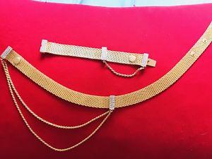 【送料無料】ネックレス クランプアンプブレスレットバレンティーノオートクチュールrare collier amp; bracelet valentino haute couture 1980