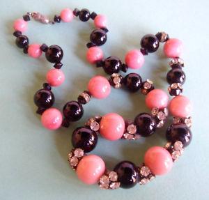 【送料無料】ネックレス パールネックレスガラスj240 collier de perles verre et strass debut xx