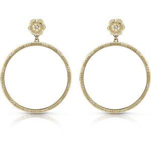 【送料無料】ネックレス ロボイヤリングnouvelle annonceorecchini a lobo guess donna ube28056 earrings acciaio oro pendenti dorati