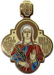 【送料無料】ネックレス メダルペンダントmedaille sainte tatiana pendentif religieux orthodoxe ste tatiana bijou chrtien