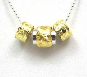 【送料無料】ネックレス シルバーハワイアンプルメリアダブルクリックバレルパールpais jaune argent 925 hawaen plumeria fleur volutes double baril perle
