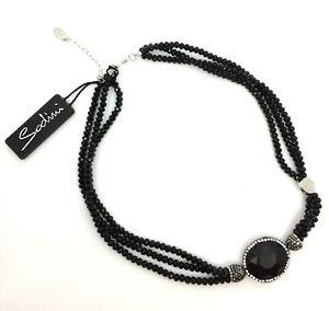 【送料無料】ネックレス コンビアンキアートsodini  collana nera con cristalli e strass neri e bianchi art 930112p don