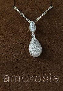 【送料無料】ネックレス アンブロシアアルジェントambrosia by comete girocollo collana argento 925 a goccia con zirconi aag 026