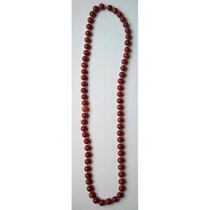 【送料無料】ネックレス ボールクリップレッドジャスパーミリcollier boules jaspe rouge 12 mm sautoir 88 cm