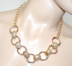 【送料無料】ネックレス アルジェントクランプcollana oro dorata donna anelli argento rosato strass collier cerimonia g20