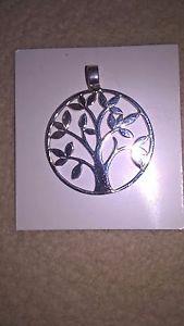 【送料無料】ネックレス メダルクランプチェーンツリーpendentif arbre de vie argent veritable medaille chaine collier