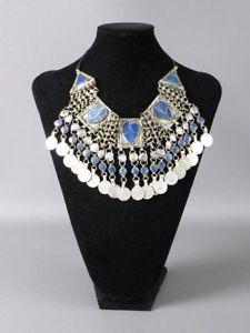 【送料無料】ネックレス turchia boho girocollo collana argentata con lapislazzuli e monete pendenti