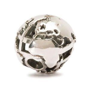 【送料無料】ネックレス シルバーauthentic trollbead silver big world tagbe60007 globo unito