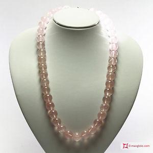 【送料無料】ネックレス アルジェントローザ**mg** collana quarzo rosa extra pallini 14mm in argento