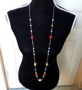 【送料無料】ネックレス ネックレスサインインポッジビーズbijoux collier sautoir signe poggi perles multicolores rouge jaune bleu vert