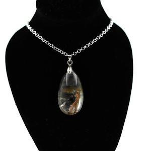 【送料無料】ネックレス ルチルペンダントpendentif de quartz rutile avec inclusions