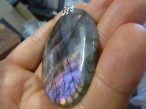 【送料無料】ネックレス ペンダントケースpendentif protection labradorite violet trs rare ref 4081