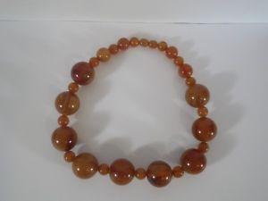 【送料無料】ネックレス ベークライトフェノールビンテージネックレスcollier perles en baklite catalin phenolic  vintage 75 gr long 38, cm environ