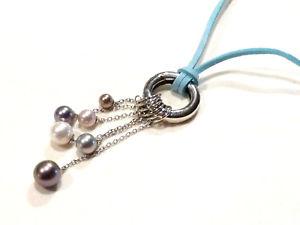 【送料無料】ネックレス ペンダントネックレスコードファンタジーnouvelle annoncebijou misaki collier pendentif acier et perles fantaisies sur cordon bleu