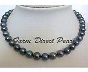 【送料無料】ネックレス ネックレス406cm ras du cou vritable 910mm noir rond collier de perles culture deau