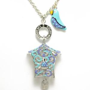 【送料無料】ネックレス πle carose collana piro piro gabbietta silver lilla azzurra pi9