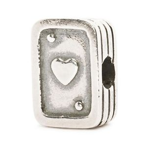 【送料無料】ネックレス シルバーカードauthentic trollbead silver playing cards tagbe50017 asso nella manica