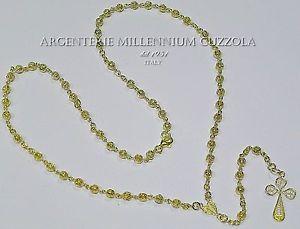 【送料無料】ネックレス アルジェントクリップcollana rosario argento 925 croce filigrana rosary filigree collier chapelet