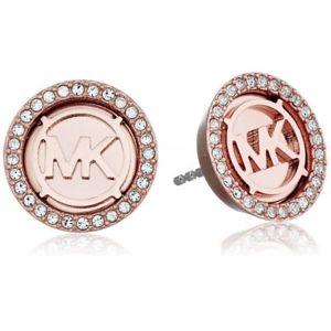 【送料無料】ネックレス ミハエルモノグラムイヤリングロサorecchini michael kors monogram donna mkj2942791 earrings mk acciaio oro rosa