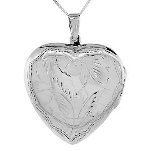 【送料無料】ネックレス スターリングシルバーメダイヨンペンダントgrand en argent sterling grav la main mdaillon coeur pendentif,457cm